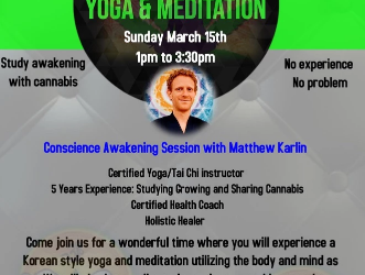 Cannabis yoga and meditation Would you like to attend? Send me a message to stay updated on this